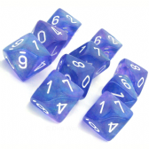 Purple & White Borealis D10 Ten Sided Dice Set